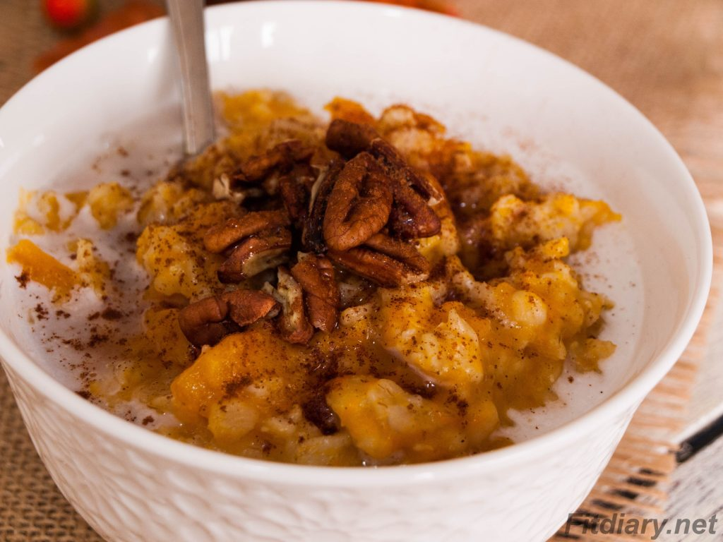 Instant Pot Overnight Pumpkin Oatmeal