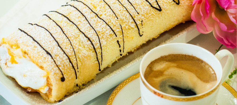 Apricot Cake Roll - gluten free low calorie dessert for weight loss dieters