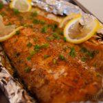 Baked Salmon Side In Foil