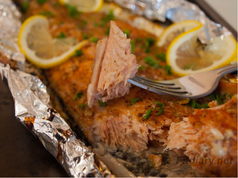 Baked Salmon Side In Foil