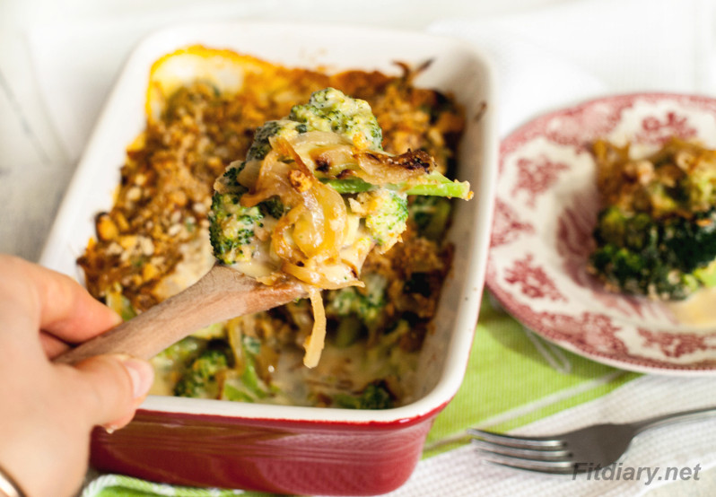 Broccoli Onion Casserole – favorite healthy side dish