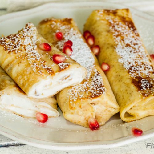 Crepes with Cottage Cheese Filling – excellent healthy and delicious breakfast