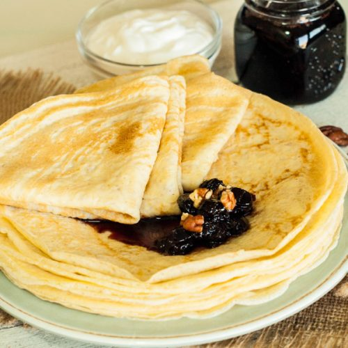 Healthy Crepes – tasty energy breakfast for healthy diet