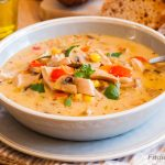 Leftover Turkey Corn Soup – comforting and healthy dish