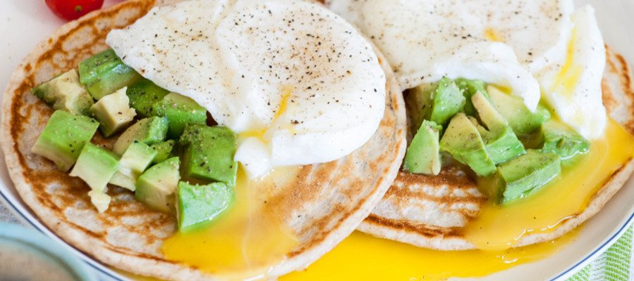 Ultimate Breakfast with Simple Pancakes and Poached Eggs