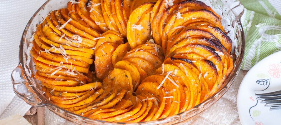 Roasted Sweet Potato Side Dish with Parmesan – perfect healthy side