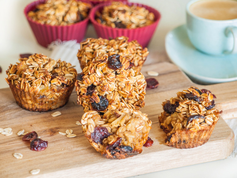 Cranberry Oatmeal Muffins