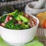 Broccoli with Ham and White Beans