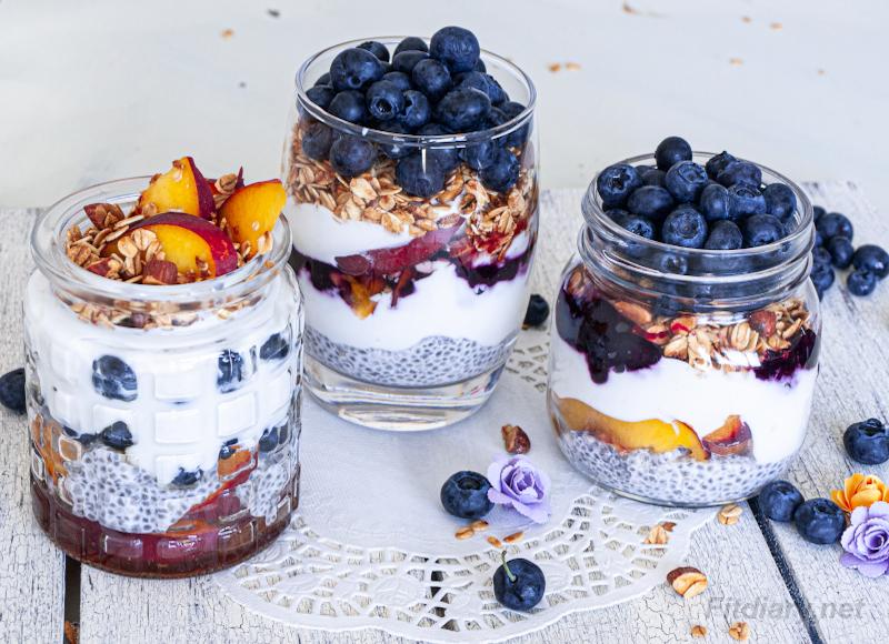 Greek Yogurt Chia Parfait – healthy and nutritious treat