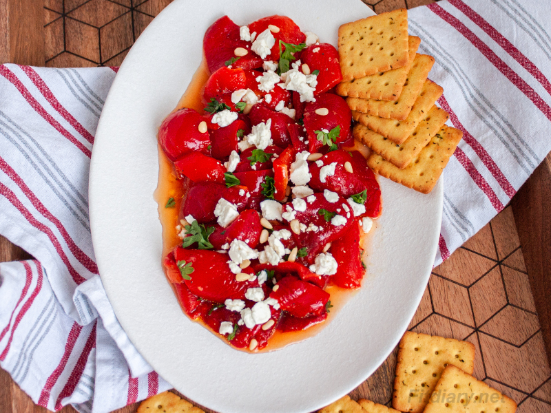 Italian Roasted Peppers – light and healthy vegetable appetizer