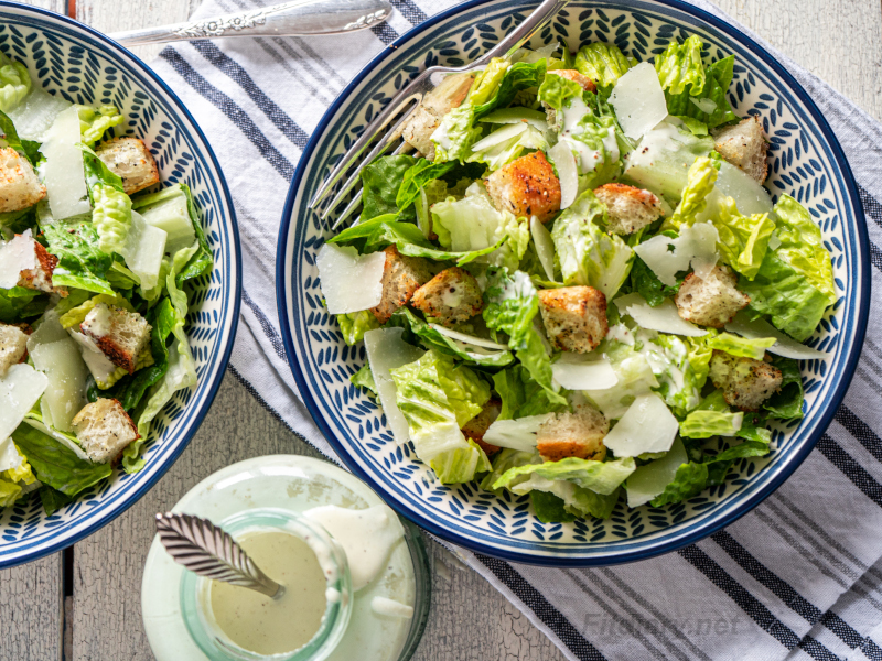 Healthy Caesar Dressing – light and delicious salad dressing with rich Caesar flavor