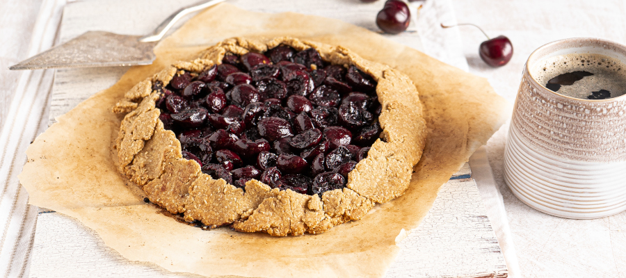 Healthy Cherry Galette – sugar-free, vegan dessert with health benefits