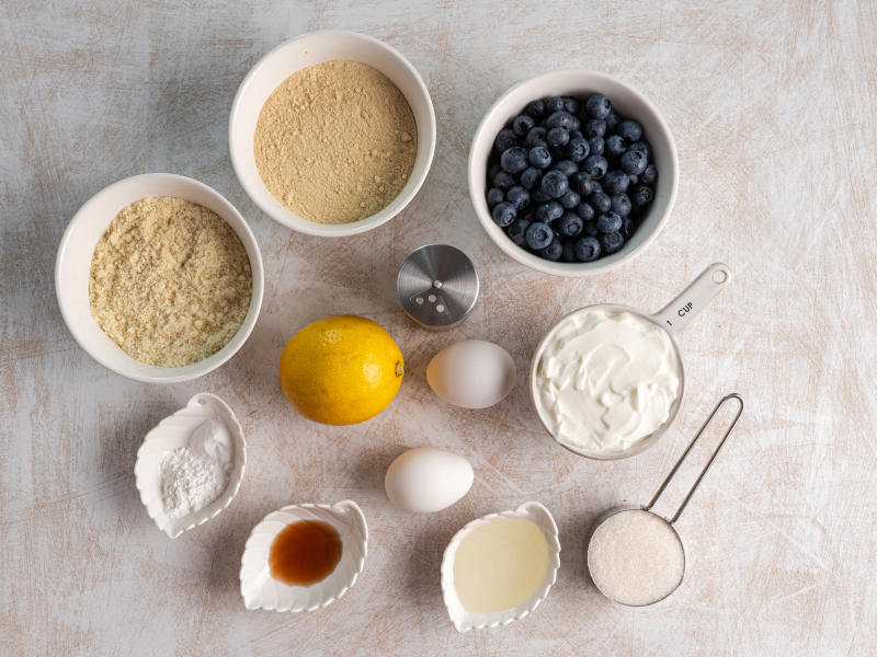 Healthy Blueberry Lemon Muffins – the best sugar-free and butter-free soft muffins