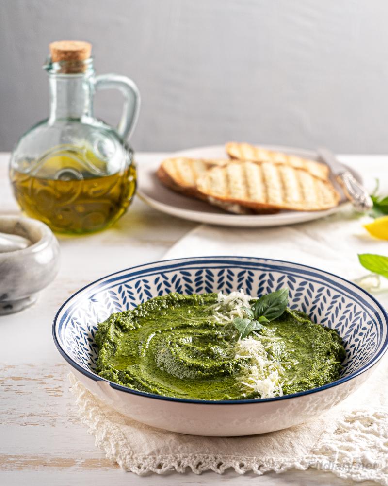 Homemade Basil Pesto – healthy, easy, lower in calories recipe