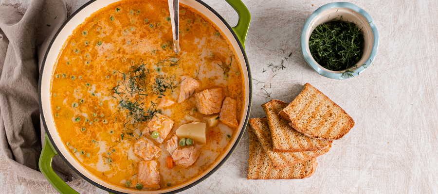 Salmon Soup – healthy and easy soup recipe for delicious dinner