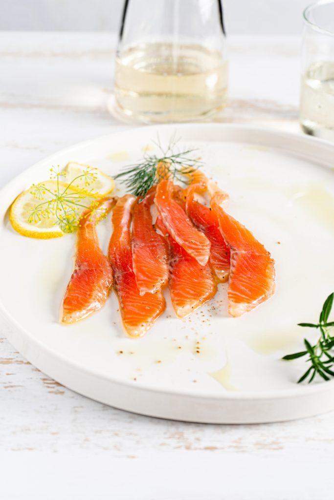 Salmon served