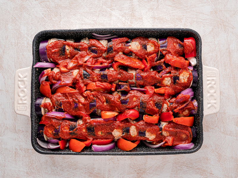 Healthy Eggplant and Meatball Casserole – easy weeknight dinner