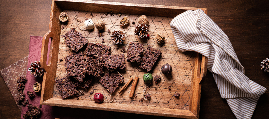 No Bake Chocolate Barks - perfect Christmas treats and simple healthy snack