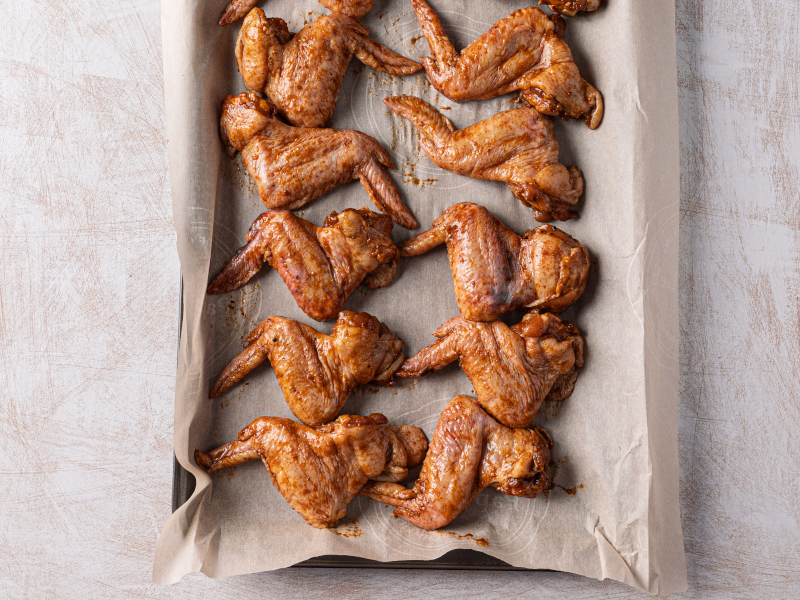 Easy Baked Chicken Wings - a healthy alternative to fried wings