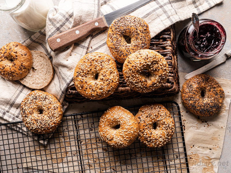 Whole Wheat Bagels – perfect homemade bagel recipe