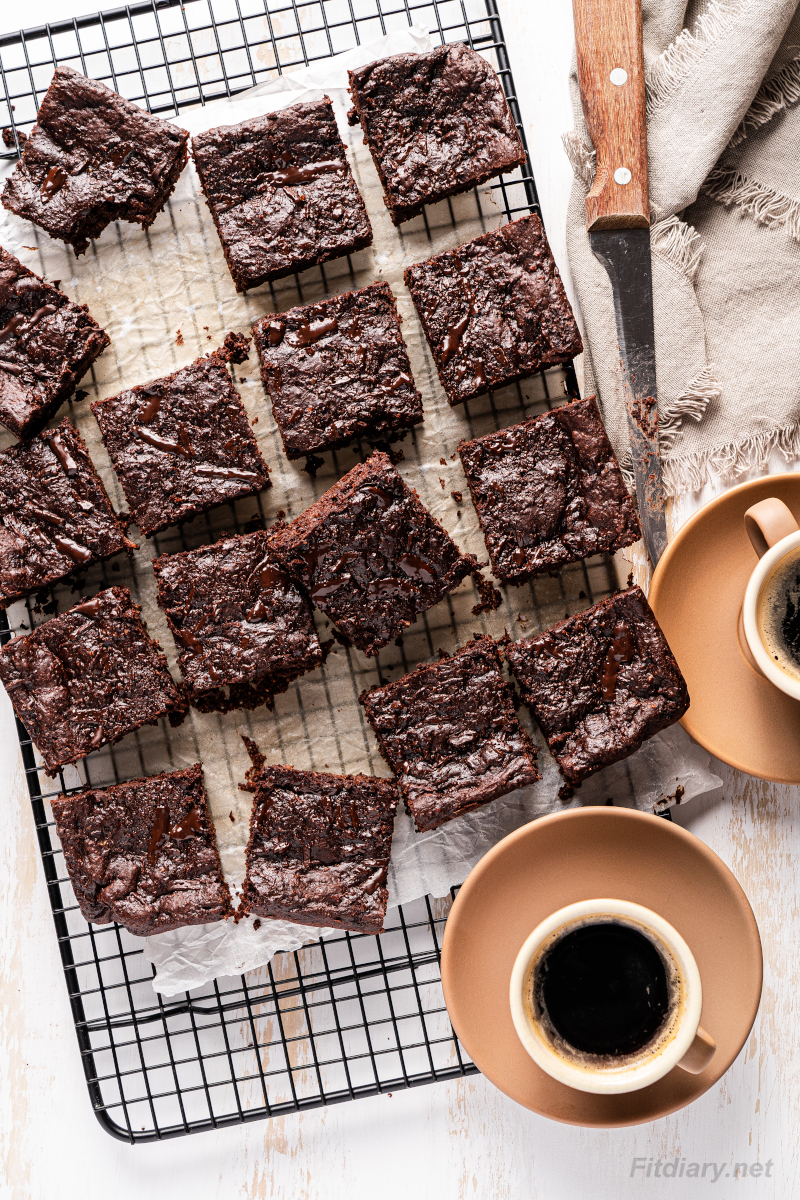 Healthy Brownies – no sugar low calorie dessert