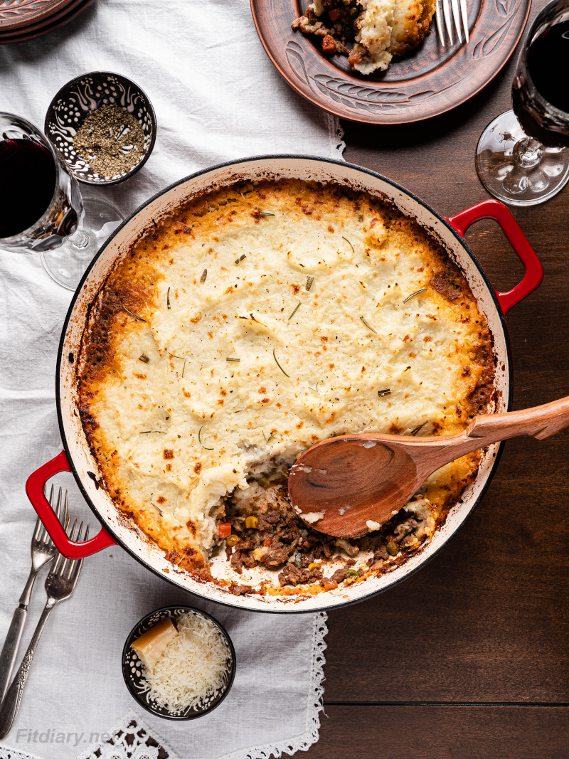 Healthy Shepherd's Pie – lightened up and lower in calories favorite dinner