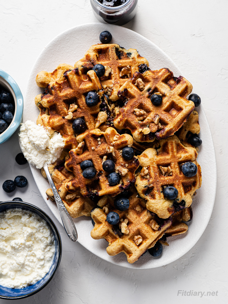 Healthy Ricotta Blueberry Waffles – make really delicious breakfast