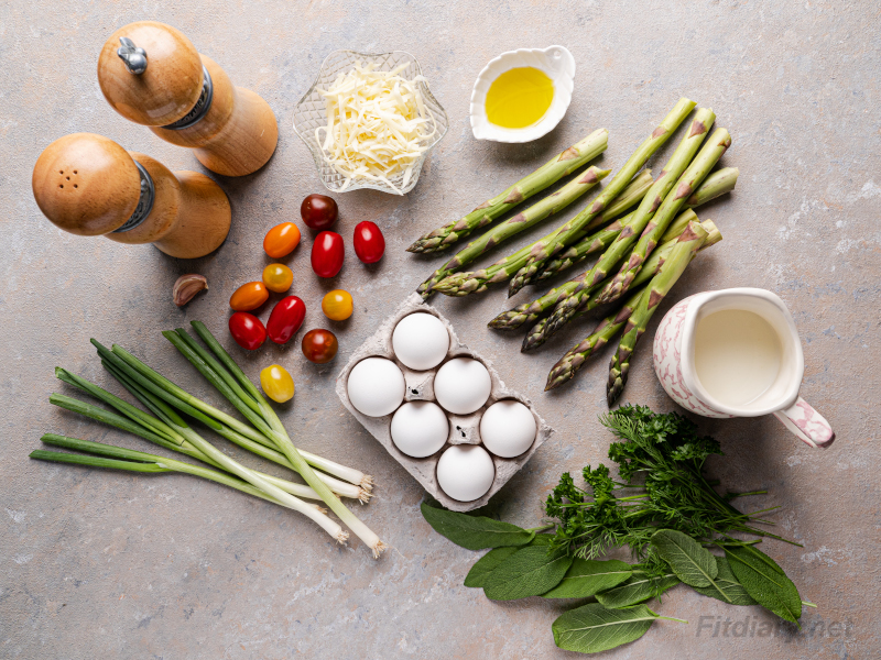 Asparagus Frittata – healthy egg breakfast recipe loaded with vegetables and protein