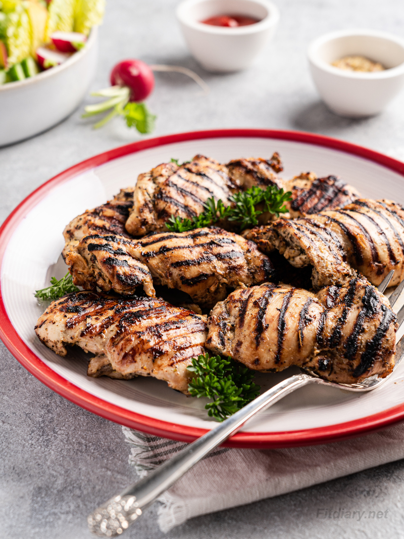 Grilled Chicken Thighs – simple and quick chicken recipe that's perfect for healthy dinner and weight loss diet