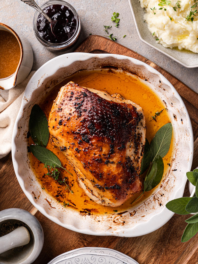 Roasted Turkey Breast – the best moist and juicy turkey recipe